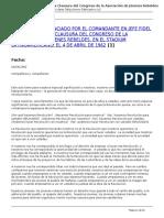 COMANDANTE EN JEFE EN LA CLAUSURA DEL CONGRESO DE LA ASOCIACION DE JOVENES REBELDES, EN EL LATINOAMERICANO, EL 4-4-1962