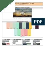 margot - portfolio style guide example  1
