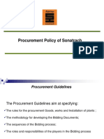 Procurement Policy of Sonatrach
