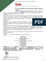 Hotarirea 985_2019 privind registrul agricol pentru perioada 2020-2024