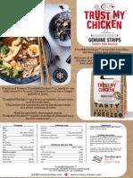 Trust My Chicken InfoSheet Genuine Strips