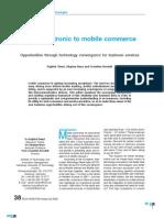 Electonic Commerce to mCommerce