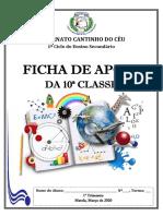 FICHA DE APOIO DA 10ª CLASSE 2020