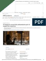 Coronavirus Andalucía. El impacto social del aislamiento por el coronavirus, según los expertos (ABC)