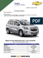 PROFORMA SPIN 1.8 LTZ MT - 2019