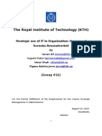 Strategic Use of IT in Organization Group Project Final