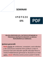 seminar 4 ipoteze efs