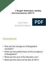 Bengali Nationalism, 47-71