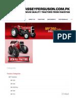 Massey Ferguson - MF 260 Turbo 60HP - Xtra Series and Premium Quality