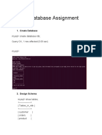 Database Assignment