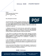 Defensa Oficiosa Del Alcalde de Puerto Parra Santander