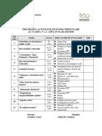 Tematica activitatilor extracurriculare cls.VI, 2018-2019
