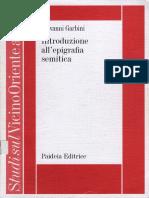 Giovanni Garbini-Introduzione All'Epigrafia Semitica-Paideia (2006)