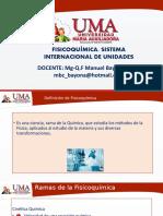 FISICOQUIMICA I- SISTEMA DE UNIDADES