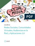 Redes Sociales, Comunidades Virtuales, Audiencias en la Red, y Aplicaciones 2.0