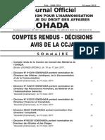 JO OHADA Journal Officiel n 27