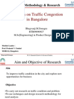 Design research on Traffic Congestion  in Bangalore