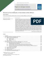Research on the aerodynamics of intermediate turbine diffusers
