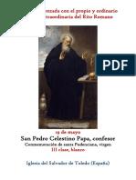 19 de Mayo. San Pedro Celestino Papa, confesor. Propio y Ordinario de la santa misa