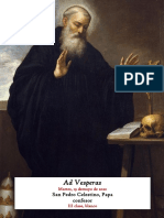 19 de mayo de 2020. Vísperas gregorianas de San Pedro Celestino Papa, confesor