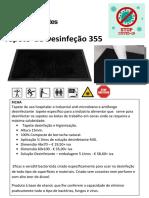 tapetes desinfeção 355+ desinfetante