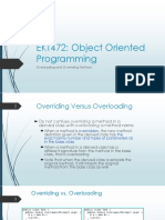 2. Overloading and Overriding Method