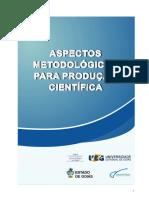 UEG - Apectos Metodológicos para Produção Científica