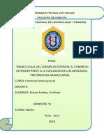 MARCO LEGAL DEL COMERCIO EXTERIOR