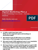 Digital Marketing Plan - E-mail Marketing Conversions - Exercise - Solutions - Pablo Martín Antoranz