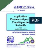 APPLICATION PHARMACEUTIQUE ET COSMETIQUE DES SURFACTIFS