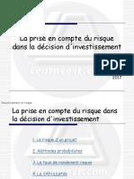 1 - Investissement et risque - La prise en compte du risque