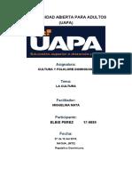 TAREA 1 DE CULTURA Y FOLKLORE DOMINICANO