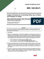 MIN_548_ codes of practice noise + vibration