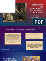 LITERATURA DEL RENACIMIENTO Y EL BARROCO EN EUROPA