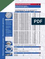 Manomètre MEI 0-40 Bars -centré