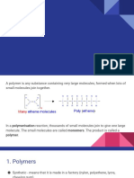 Polymers and polymerisation