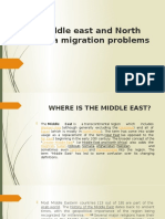 Middle east and North Africa migration problems