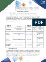 INFORME PRÁCTICA DE LABORATORIOS DE QUÍMICA ORGÁNICA