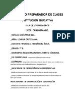 FORMATO PREPARADOR DE CLASES