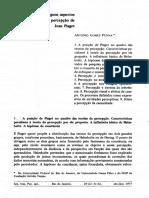 Alguns aspectos da teoria da percepção de Jean Piaget - Antonio Gomes Penna