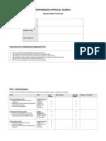 Performance Appraisal Form