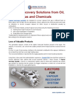 Vapour Recovery Solutions from Oil, Gas and Chemicals