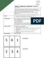 Evaluación Lectura Domiciliaria PAPELUCHO y el MARCIANO