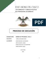 TRABAJO DEL PROCESO DE EJECUCION