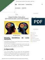 Hipermídia- Estudos semióticos de Lúcia Santaella - Paloma Viricio