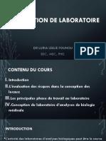 Founou LL - Organisation de Laboratoire SBIO2 ISTM