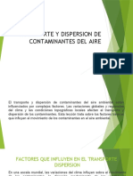 TRANSPORTE Y DISPERSION DE CONTAMINANTES DEL AIRE