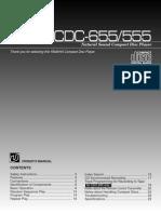 CDC-655 Yamaha CD Player User Manual