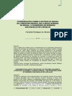 2011 FERNANDO artigo HISTORIA DA EDUCAÇÃO