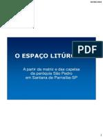 O ESPACO LITURGICO_Pe Hosorio